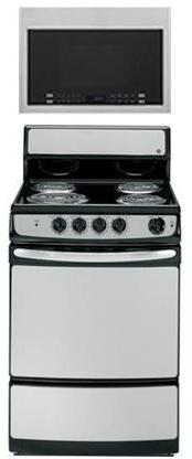 "GE 2-Piece Kitchen Package with JAS02SNSS 24"" Freestanding E"