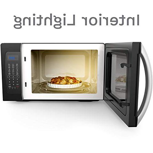 hOmeLabs - 1.3 Cu. 1050W, Black with Cook Functions, Turntable and Power Settings