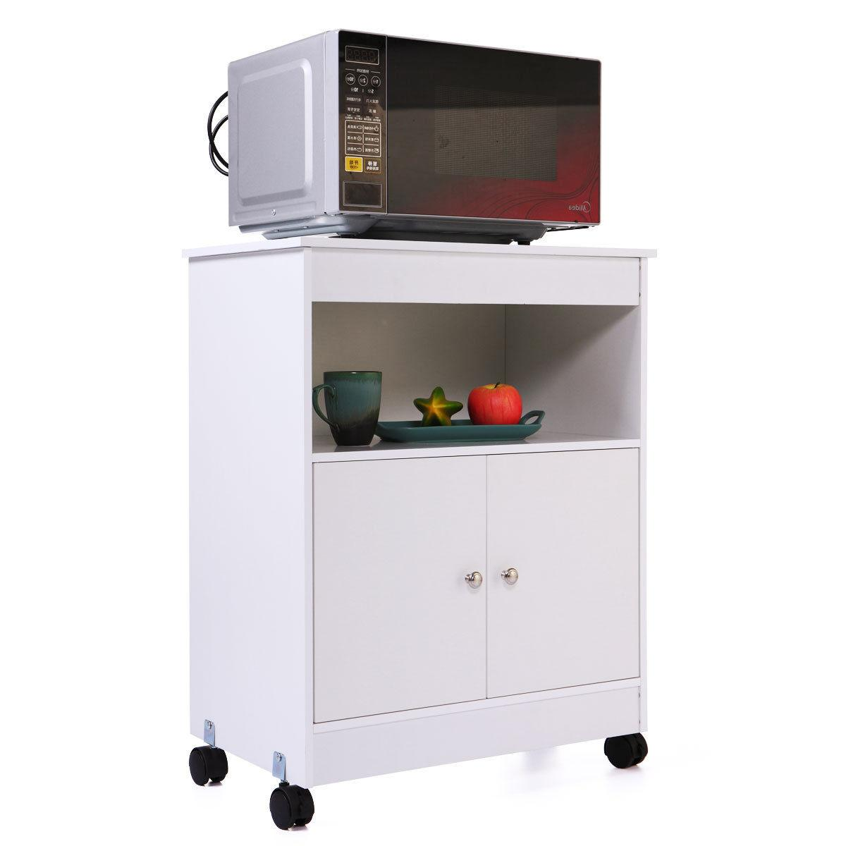 Home Kitchen Microwave Cart  Storage Large Open Shelf Cabine