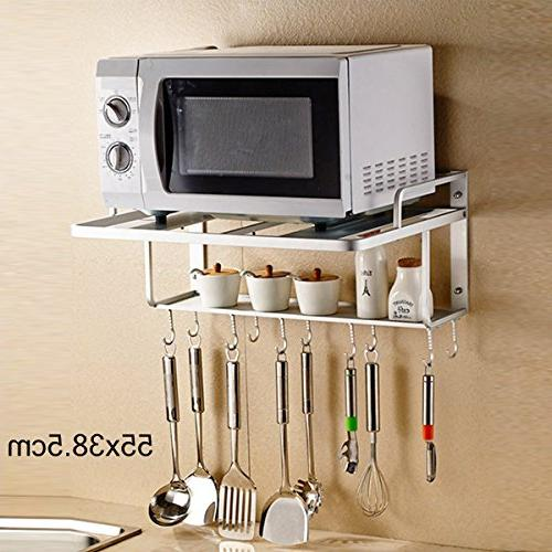 kitchen microwave oven rack wall