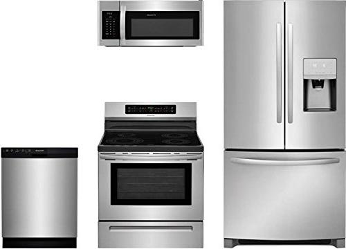 Frigidaire 2-Piece Stainless Steel Kitchen Package with FFIF3054TS 30 Freestanding Induction Range and FFMV1645TS 30 Over-the-Range Microwave