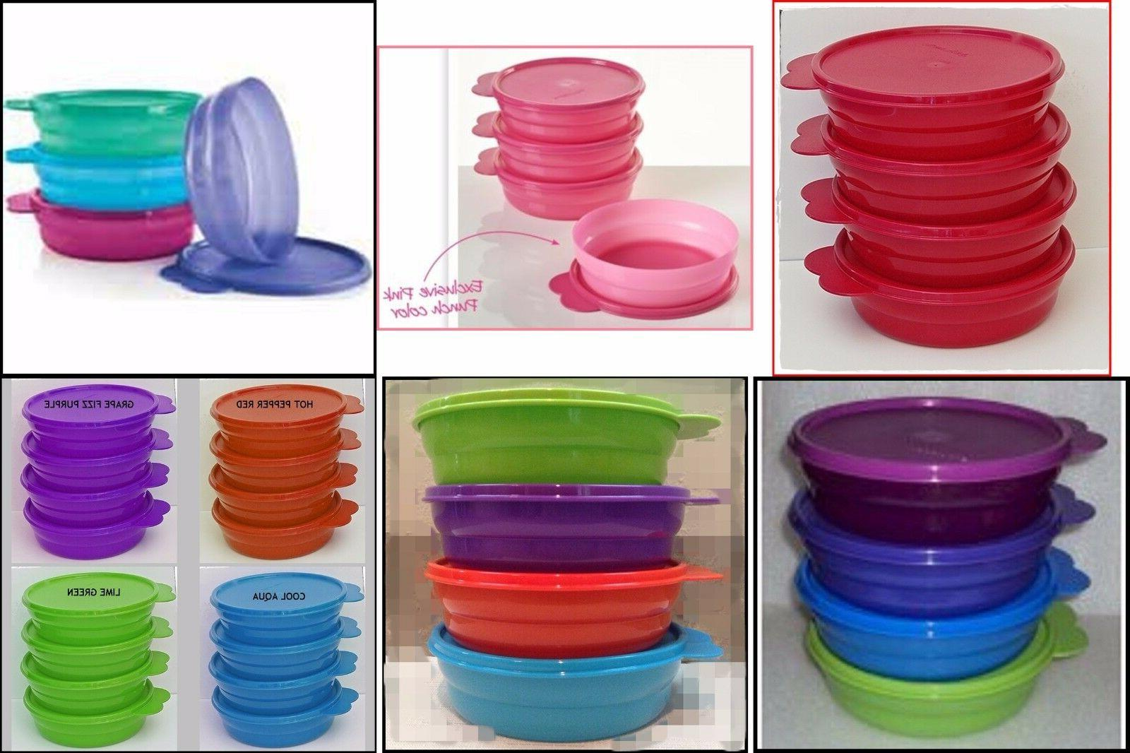 TUPPERWARE MICROWAVE 2 CUP CEREAL BOWL SET OF 4 BOWLS U PICK