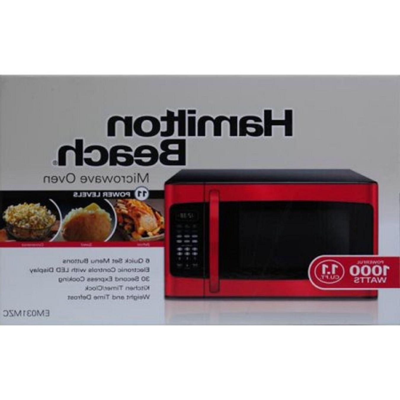 Hamilton 1.1 ft Microwave, Red