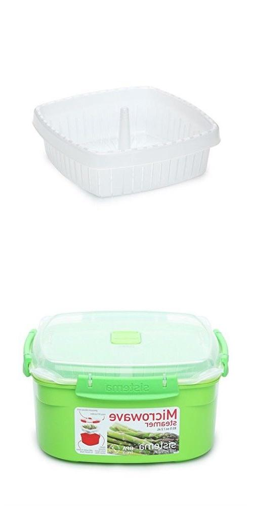 Microwave Steamer Plate Sistema Assorted Colors Sizes