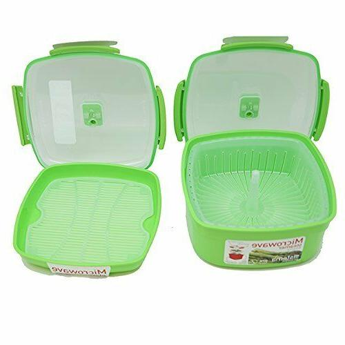Microwave Cookware Steamer Plate Sistema Assorted Colors Ass