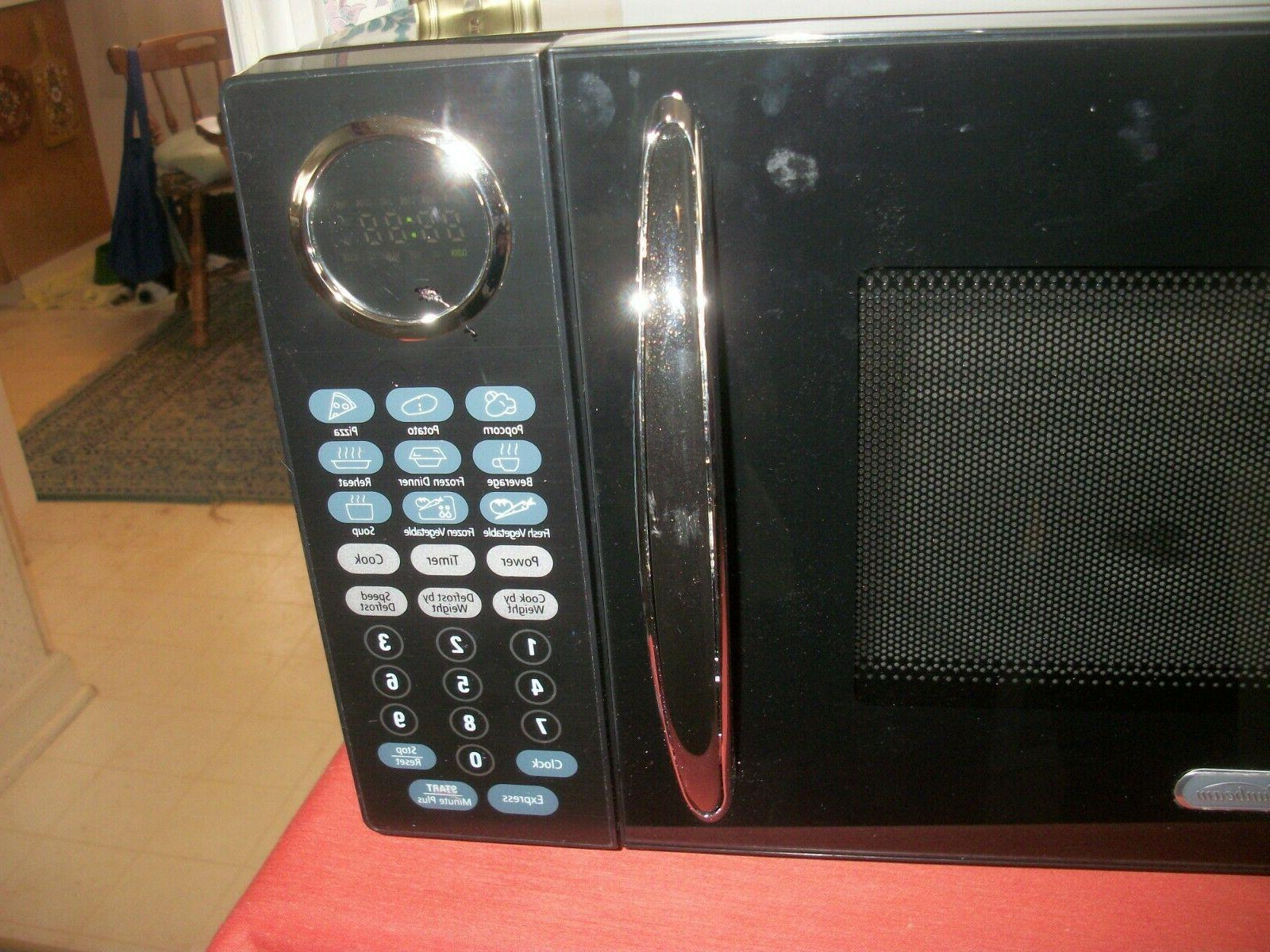 Sunbeam Microwave Watts Feet Black