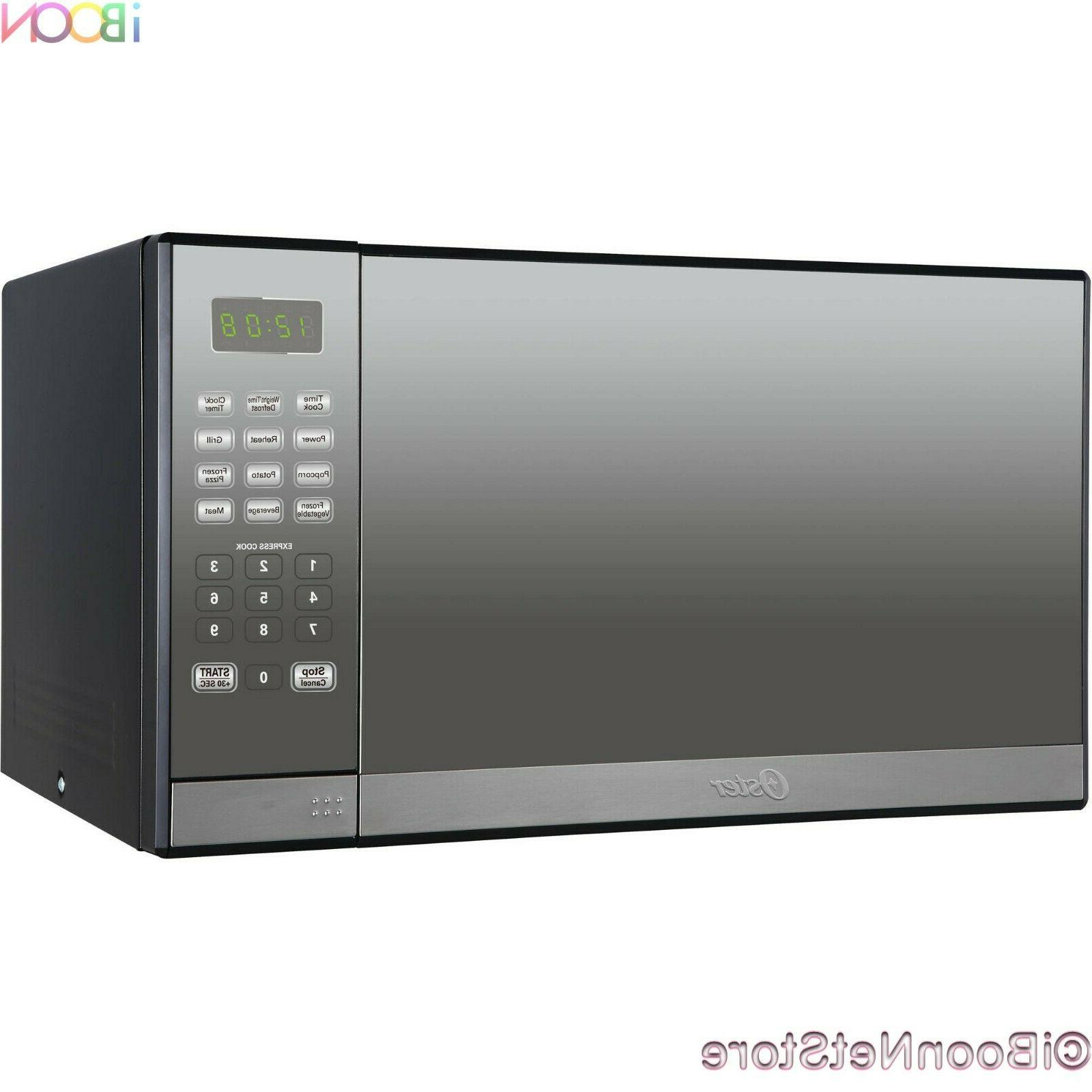 Oster Microwave Oven CounterTop Stainless Steel Mirror 1.3 ft