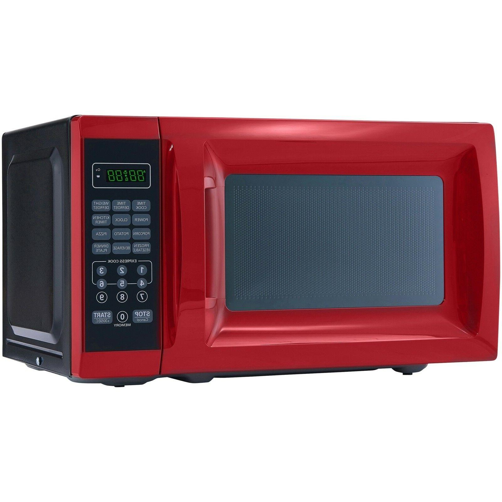 Microwave Removable Glass Turntable, Red