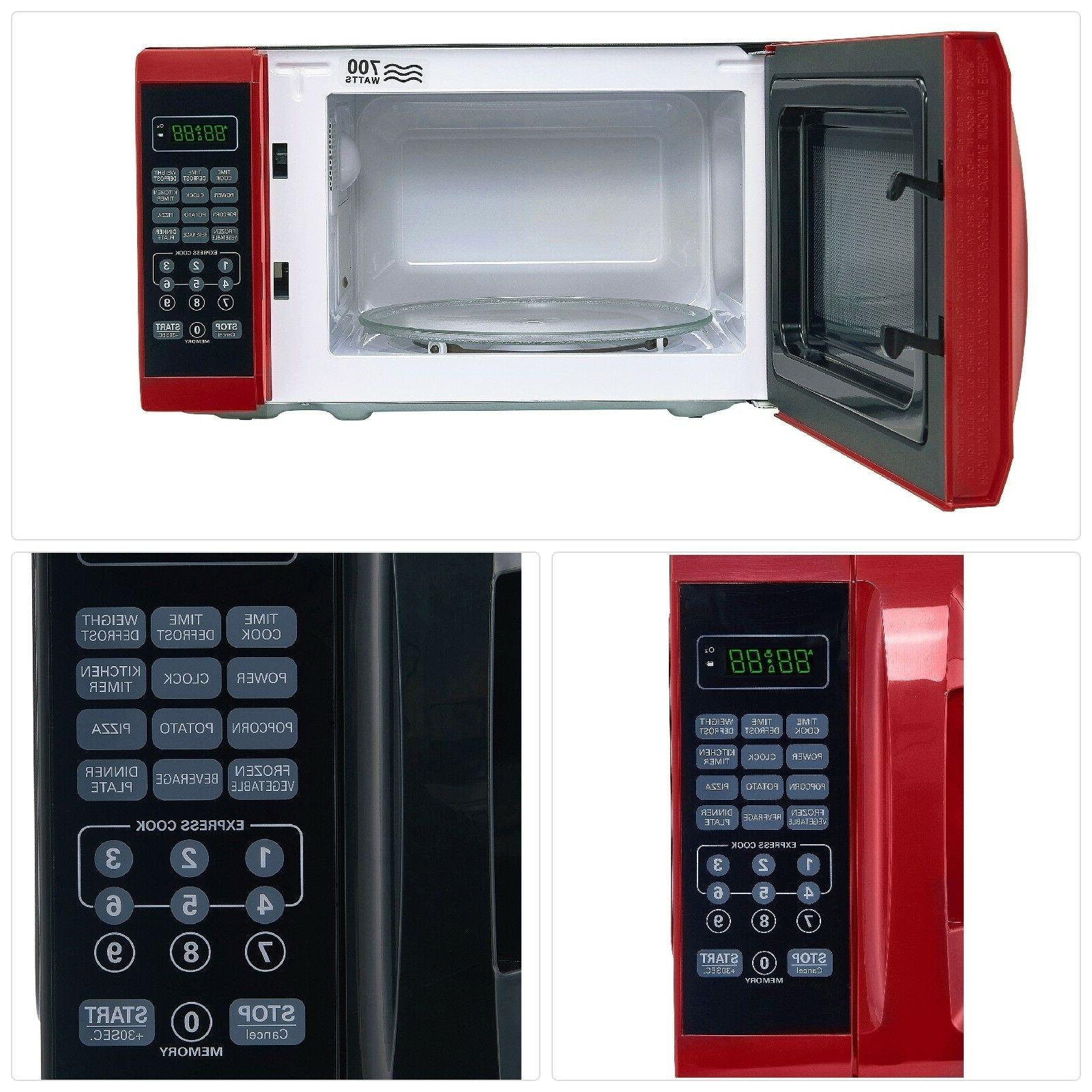 Microwave Countertop Removable Red