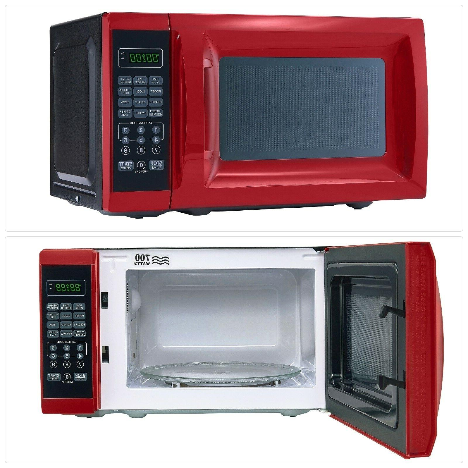 Microwave Countertop With Red