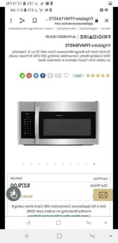 Microwave oven over the range
