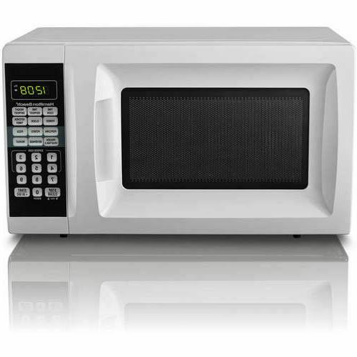 Microwave Oven White 0.7 Countertop Small Space Kitchen Dorm
