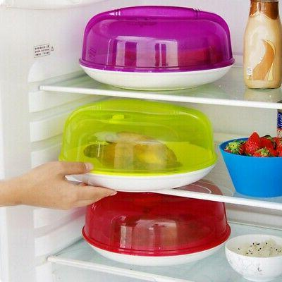 4 Colors Microwave Plate Cover Lid Food Splatter Guard Dish