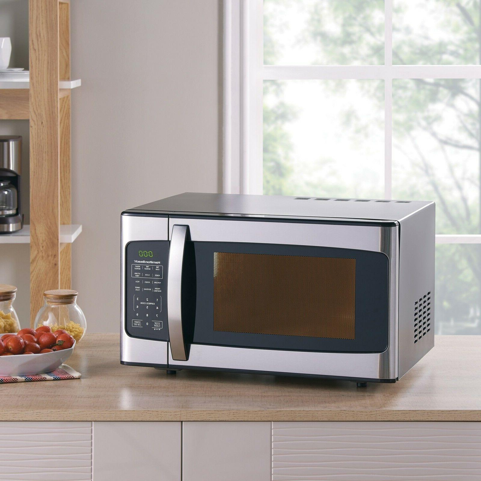 1.1 cu. ft. 1000 Watt Microwave, Stainless Steel Hamilton Be
