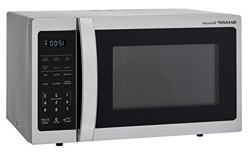 Sharp ZSMC0912BS 900W Countertop Microwave 0.9 Cubic Foot, Steel