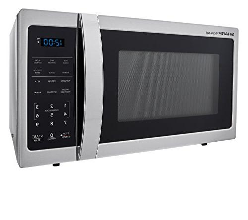 Sharp 900W Countertop Microwave 0.9 Cubic Stainless Steel