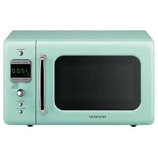 NEW DAEWOO RETRO 0.7 CUBIC FOOT 700W MICROWAVE KOR-7LRE CHIL