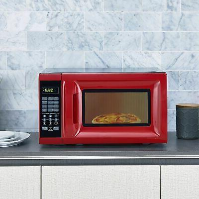 Mainstays 700W Oven Power Levels Child Red -