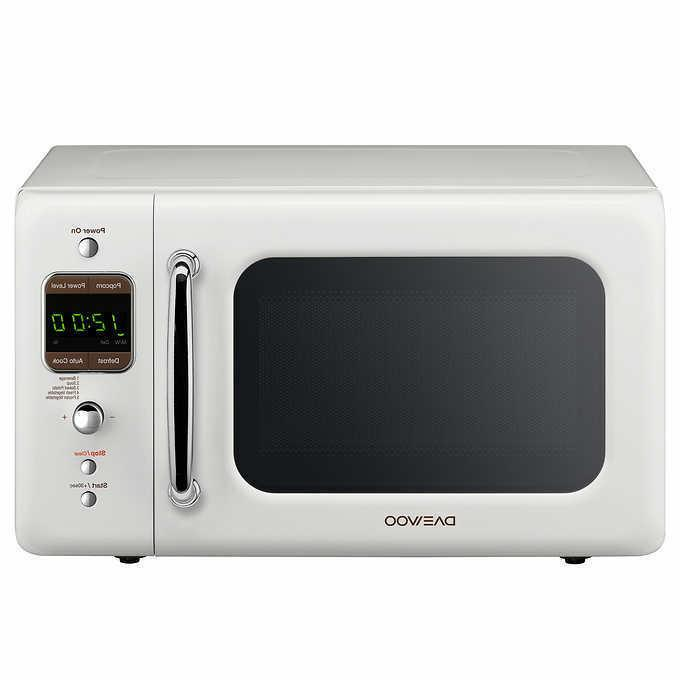 Daewoo Retro 0.7 CuFt 700W Microwave With 5 Auto-Cook Progra