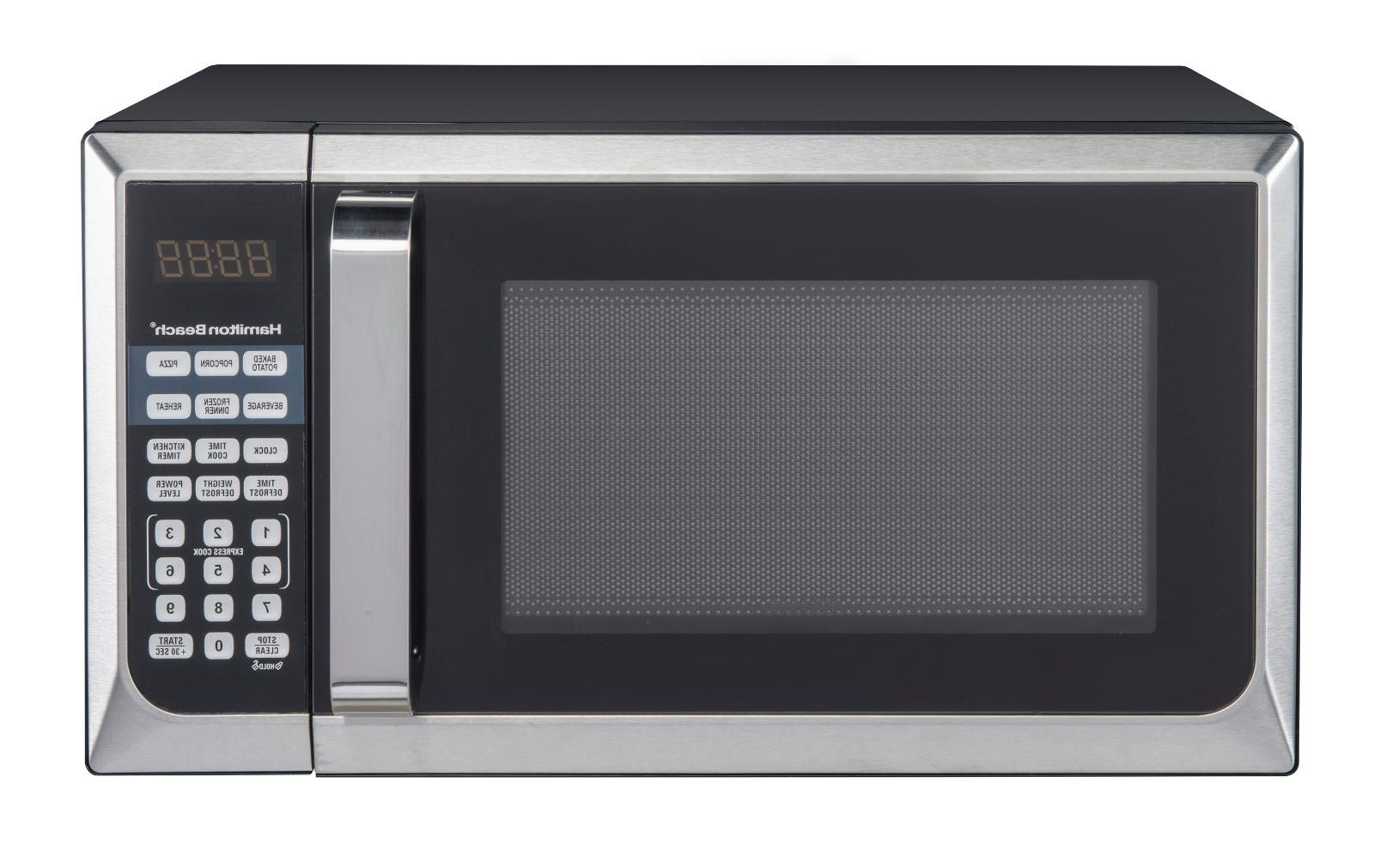 stainless steel counter top microwave oven
