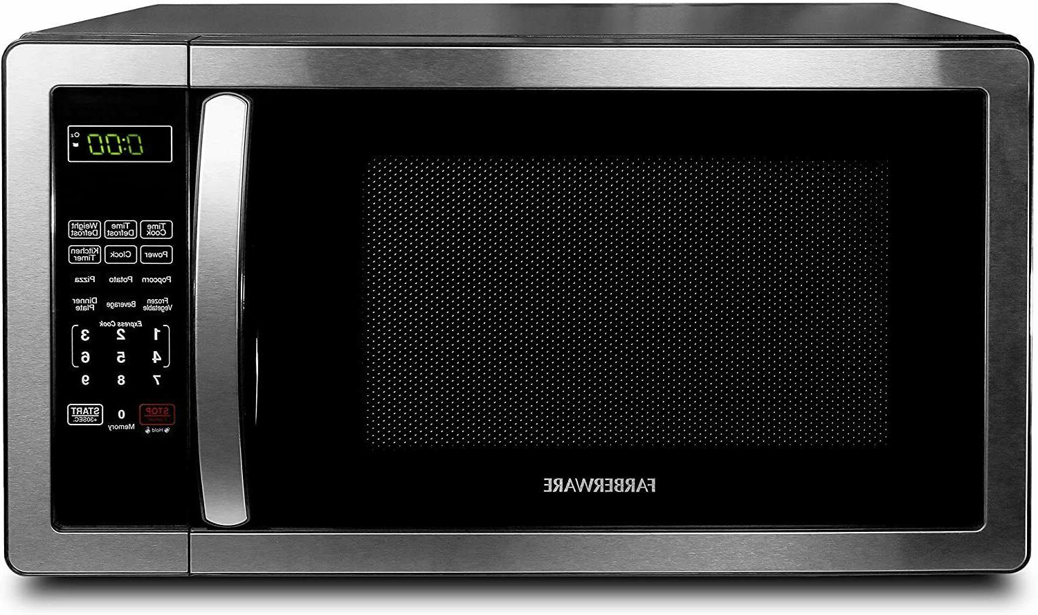 Farberware 1.1 Cu. Ft. Stainless Steel Microwave Oven With 6