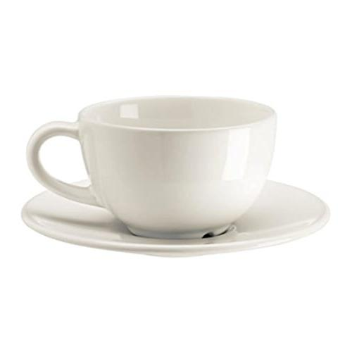 fcb211677ac3 IKEA Vardagen Coffee Cup and Saucer off- White