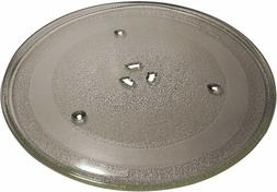 Supco MW014A Microwave Glass Turntable Cook Tray 3390W1G014A Replaces W10337247 12.7 x 12.5 x 1 Inch