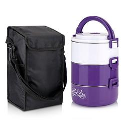 Lunch Box Tier Stainless Steel Thermal Insulated Stackable B
