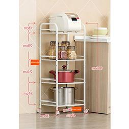 LXLA- 4-Tier Can Move Anywhere Kitchen Shelves Storage Shelf