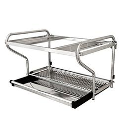 LXLA- Microwave Oven Rack Kitchen Shelf Oven Rack Hanging Ra