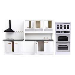 MagiDeal 1/12 Dollhouse Furniture Wood Kitchen Cabinet Micro