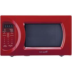 Magic Chef MCD992R Countertop Microwave Red .9 Cu-ft 900W W/