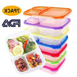 Meal Prep Containers Lunch Boxes Reusable 3 Compartment Food