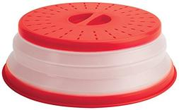 Tovolo Microwave Collapsible Food Lid & Cover Red