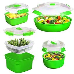 Sistema  Microwave Cookware & Food Storage Container Set Wit