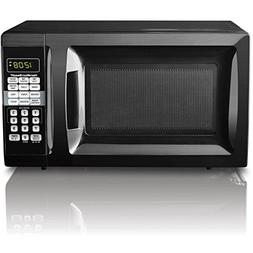 Microwave oven 0.7 CU FT 700W black Mainstays EM720CGAB expr