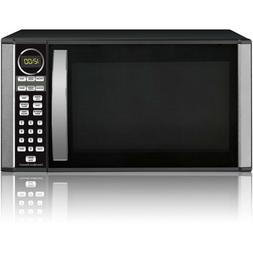 microwave oven countertop stainless steel black 1