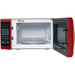 microwave oven countertop with removable rotating glass