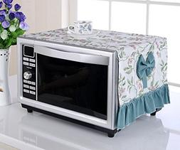 LFHT Microwave Oven Cover with Pockets Household Cloth Art D