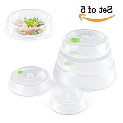 Set of 5 Microwave Plate Cover/Dish Covers - Mixed Sizes -Di