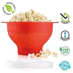 Microwave Popcorn Popper, Hot Air Popcorn Maker, Collapsible