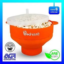 Microwave Popcorn Popper Safe and Noiseless Easy To Use Stor
