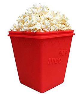 Microwave Popcorn Popper Silicone Bowl Healthy Choice BPA Fr
