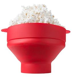 microwave silicone collapsible popcorn popper