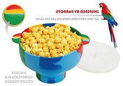 Microwave Silicone Colorful Popcorn Popper with Handles and