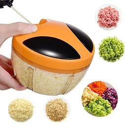 Mini Manual Food Processor Vegetable Chopper, Mixer, Mincer,