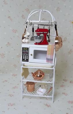 Miniature Dollhouse Display Ready Microwave Rack. Kitchen, D