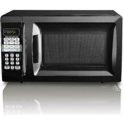 New Hamilton Beach 0.7 Cu. Ft. Black Microwave Oven 700 Watt