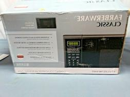New* FARBERWARE 0.7Cu.Ft MICROWAVE OVEN In Black Stainless S