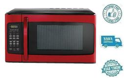 New Red Hamilton Beach 1.1CuFt Microwave Oven Countertop Ins